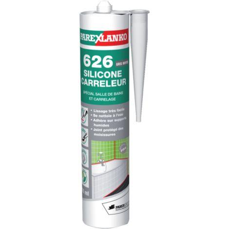 Mastic Silicone Carreleur 626 PAREXLANKO   310 Ml   Gris Moyen    G626GRIMOY310