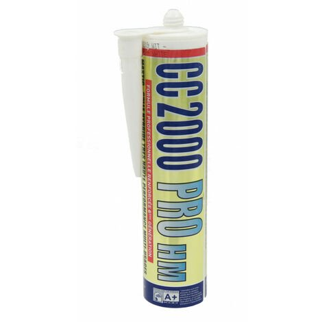 Mastic silicone CC2000 pro HM BLANC spécial piscine. krystal