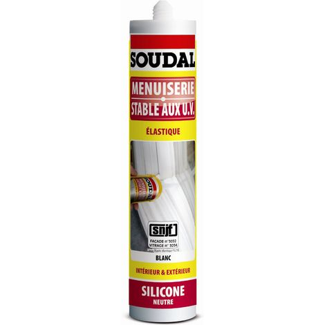 """main image of """"Mastic silicone menuiserie neutre SNJF blanc - Soudal"""""""