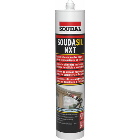 Mastic silicone neutre transparent - Soudasil NXT 300ml