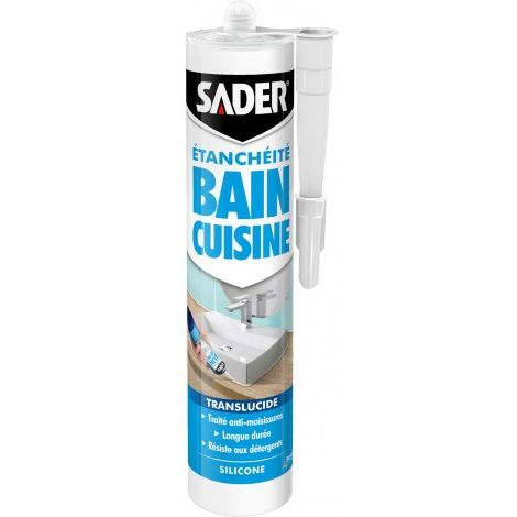 Mastic silicone Sader Bain et Cuisine 280ml