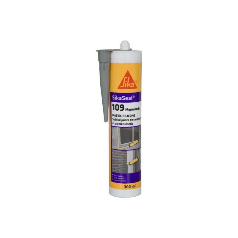 Mastic silicone neutre cartouche 300ml seal 109 : translucide, blanc, gris, pierre, noir, anthracite - Couleur: Gris - Sika