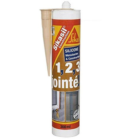 Mastic silicone SIKA Sikasil construction - Beige - 300ml - Beige
