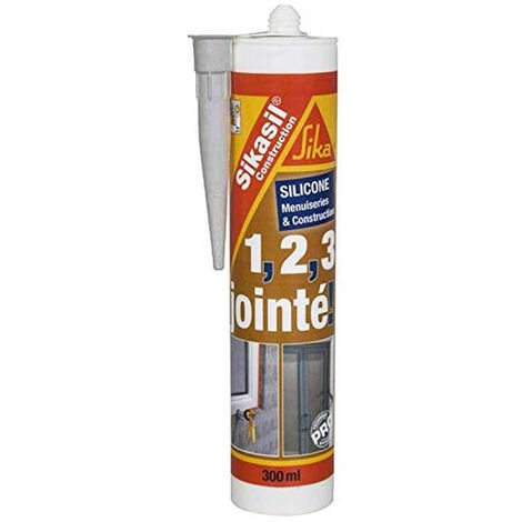 Mastic silicone SIKA Sikasil construction - Gris - 300ml - Gris