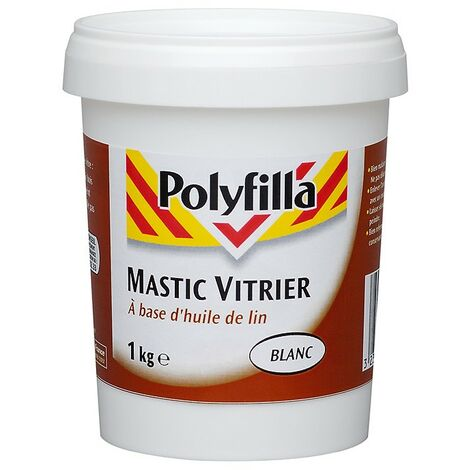 Mastic vitrier blanc 1kg
