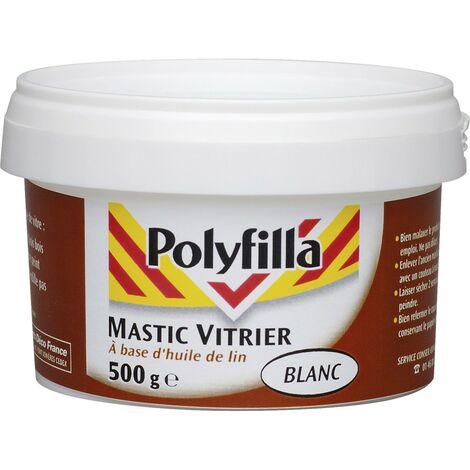 Mastic vitrier blanc 500g