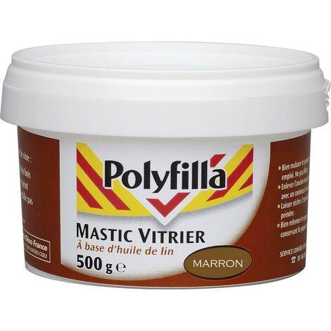 Mastic vitrier marron 500g