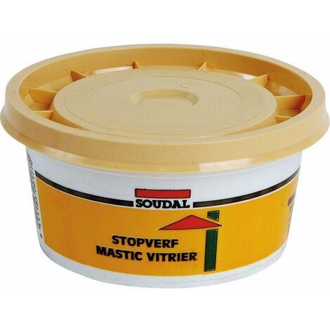 Mastic Vitrier Pot Teinte Naturelle 500g 6570042 - OUTIFRANCE