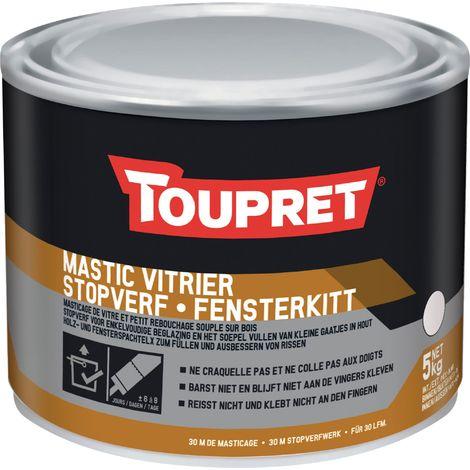 Mastic vitrier Toupret - 5 kg - Blanc