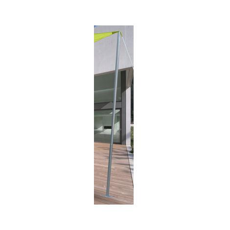 m t acier pour voile d 39 ombrage 50 mm 2 40 m mat50. Black Bedroom Furniture Sets. Home Design Ideas