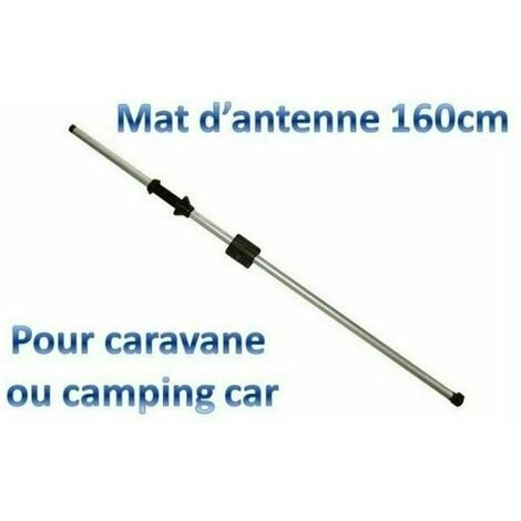 Mât d'antenne intérieur blocage par molette pour caravane et camping-car