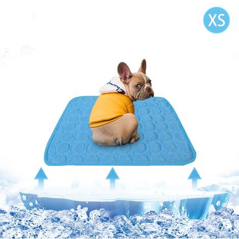 Mat verano de refrigeracion para el animal domestico respirable del cojin del animal domestico Manta portatil de refrigeracion lavable para mascotas Pequena Mediana Grande mascotas, azul, XS