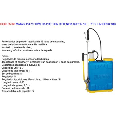 MATABI PULV.ESPALDA PRESION RETENIDA SUPER 16 L+REGULADOR=83943
