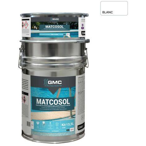 MATCOSOL PISCINE BLANC 13,5L -Résine epoxy bi- Composant grande résistance au chlore-GMC