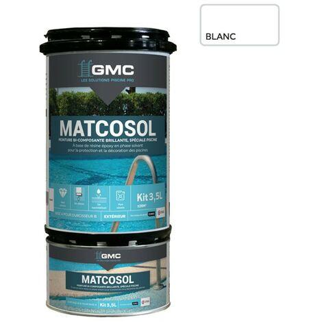 MATCOSOL PISCINE BLANC 3,5L- Résine epoxy bi- Composant grande résistance au chlore-GMC