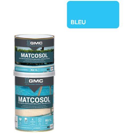 MATCOSOL PISCINE BLEU 1L -Résine epoxy bi- Composant grande résistance au chlore-GMC
