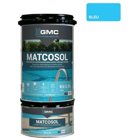 MATCOSOL PISCINE BLEU 3,5L- Résine epoxy bi- Composant grande résistance au chlore-GMC