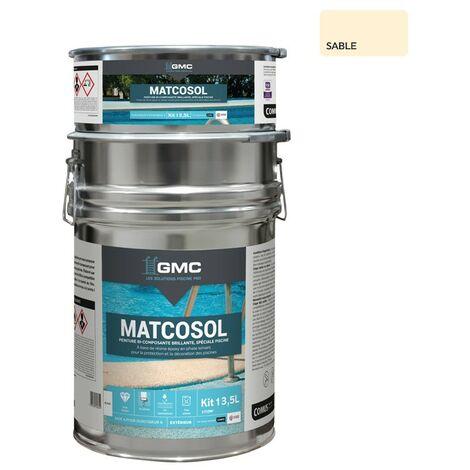 MATCOSOL PISCINE SABLE 13,5L-Résine epoxy bi- Composant grande résistance au chlore-GMC