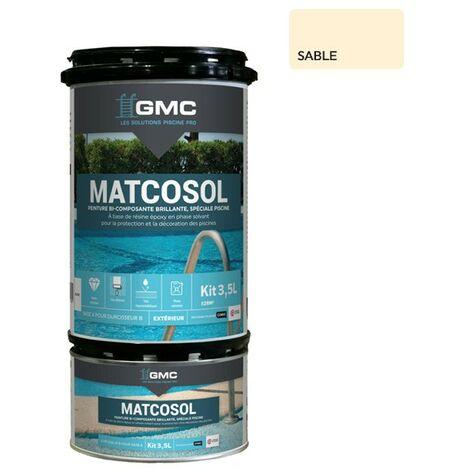 MATCOSOL PISCINE SABLE 3,5L -Résine epoxy bi- Composant grande résistance au chlore-GMC