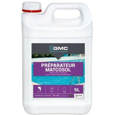 MATCOSOL PREPARATEUR 5L - Décrochant chimique avant mise en peinture des bétons neufs ou à rénover - GMC - NC