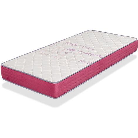 Matelas 70X160 LIT ENFANTS Epaisseur 18 CM DUA VISCO - Mousse a memoire, Ergonomique et respirant, ideal pour les lits gigognes et lit cabane