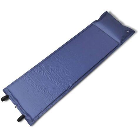 Matelas autogonflant bleu 185 x 55 x 3 cm (1 personne)