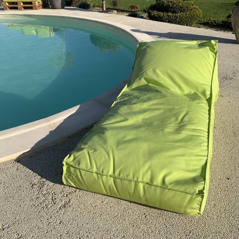 Matelas bain de soleil en microbille Anis 160 x 65 cm - Anis