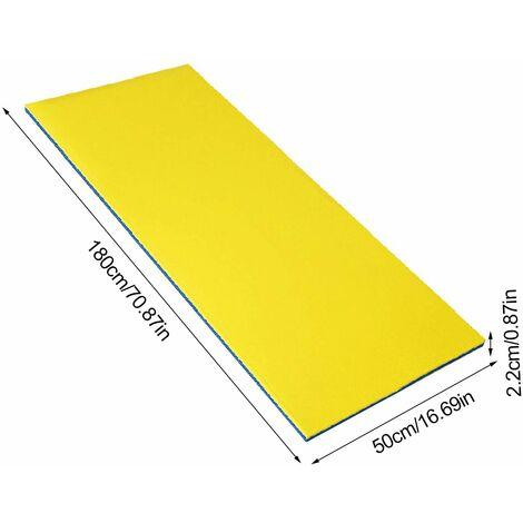 Matelas d'eau matelas flottant récréatif estival jaune et bleu 180*50*2,2CM