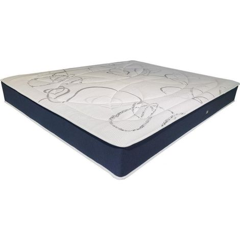 Matelas Essenzia SATURNE STRETCH BAMBOO 100x190 Mousse - Blanc