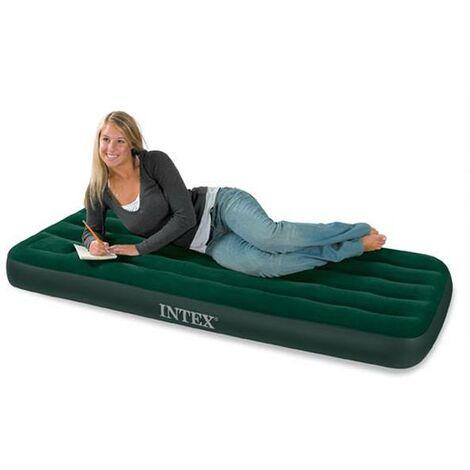 Matelas gonflable Airbed 1 place Fiber Tech avec gonfleur - Vert