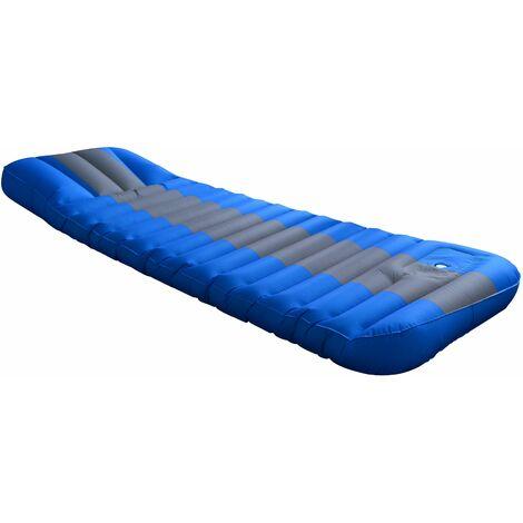 Matelas gonflable avec pompe intégré Bleu