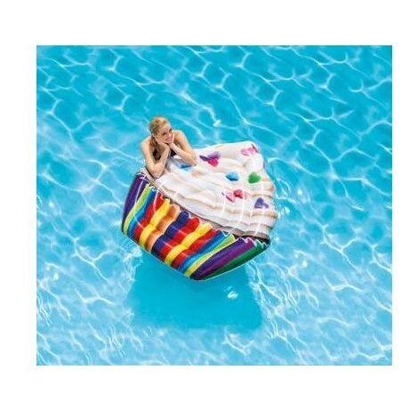 Matelas gonflable cupcake - L 142 x l 135 cm - PVC