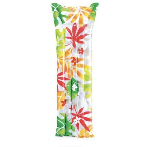 Matelas gonflable Fashion palmiers - Blanc