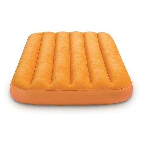 Matelas gonflable floqué pour enfant Intex - 157 x 88 x 18 cm - Orange
