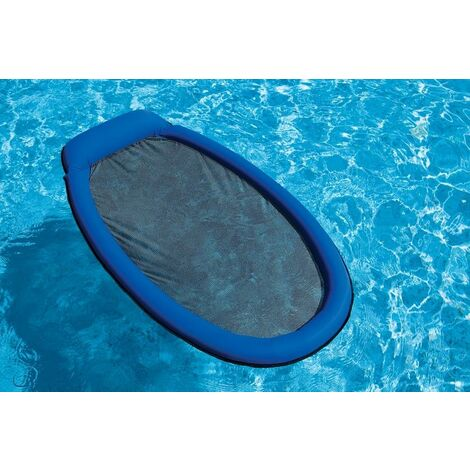 Matelas gonflable piscine Intex semi immergé maille - 178 x 84 cm - Bleu - Bleu