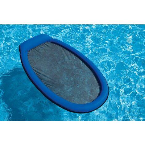 Matelas gonflable piscine Intex semi immergé maille - Bleu