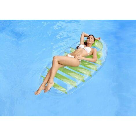 Matelas gonflable transparent Kerlis pour piscine