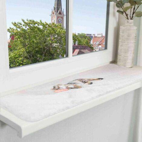 Matelas nani pour les rebords de fenêtre - 90 × 28 cm, gris