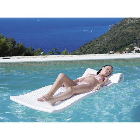 Matelas piscine Américain - Couleur: Blanc