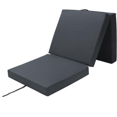 Matelas pliant de voyage Matelas d'appoint pliable Lit futon Pouf pliant avec housse 190x70x10 cm