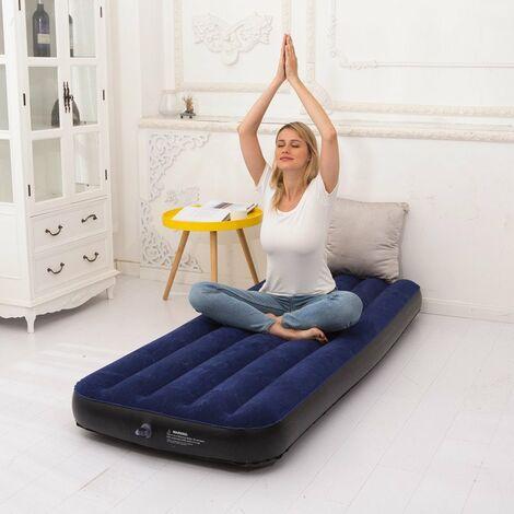 Matelas pneumatique Simple - Matelas pneumatique de Camping Compact, Bouchon Double Valve, lit Facile à gonfler, Rangement Facile, Confortable
