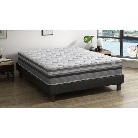 Matelas ressorts ensachés 160x200 Spring Premium Hbedding – 7 zones de confort + mousse effet mémoire de forme – Epaisseur 30cm