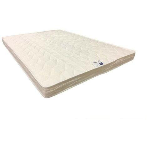 Matelas Souple avec Latex Naturel Pour Canapé Lit 80x190 x 10 cm - 7 zones de Confort - Ame Poli Lattex HD Haute Résilience - Hypoallergénique