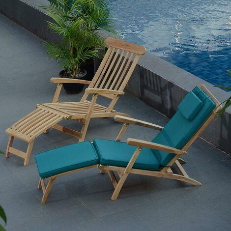 Matelas vert pour chaise longue - Vert