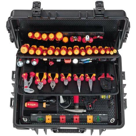 Matelín de herramientas electricista 115 unidades . XXL Wiha