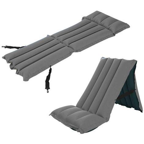 Campeggio Materassino Gonfiabile.Materassino Gonfiabile Trasformabile In Sedia Per Campeggio Spiaggia 159x53x14cm