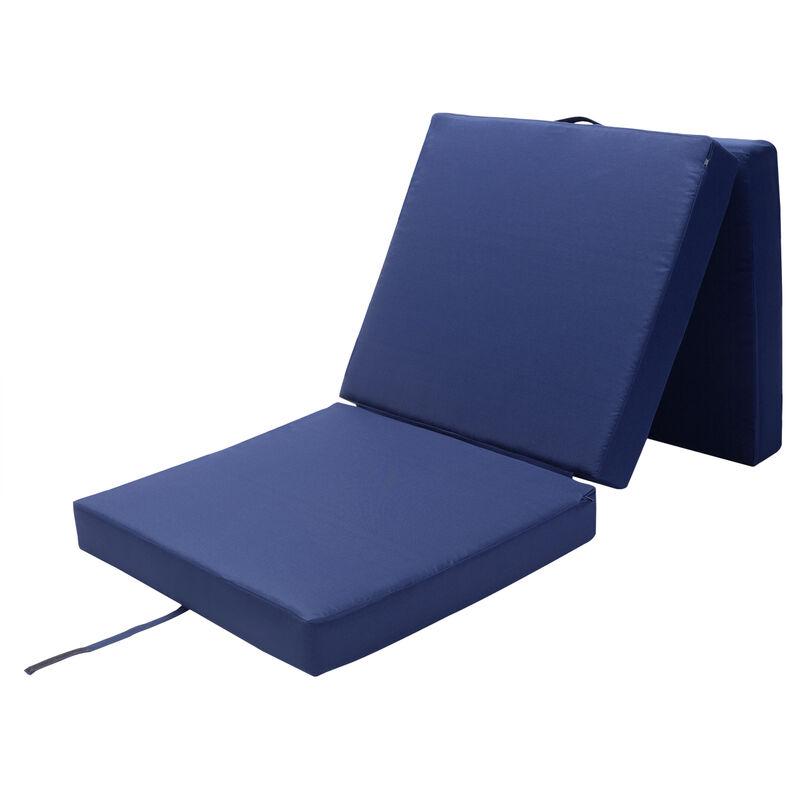Materassino pieghevole per camera degli ospiti inclusa fodera materasso campeggio viaggio Blu - DETEX