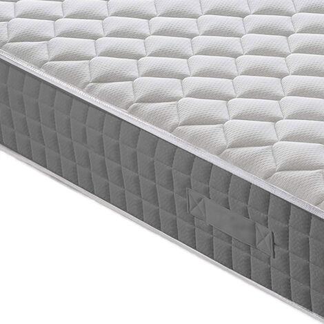 con rivestimento trapuntato di alta qualit/à H2 altezza 20 cm 70 x 190 cm colore: Bianco Materasso a molle insacchettate MSS Medic