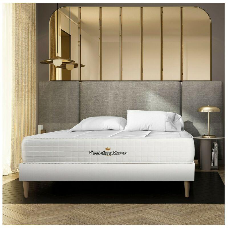 Royal Palace Bedding - Materasso Windsor 160 x 210 cm , Spessore : 26 cm, Memory foam e molle insacchettate, Bilanciato, 5 zone di comfort