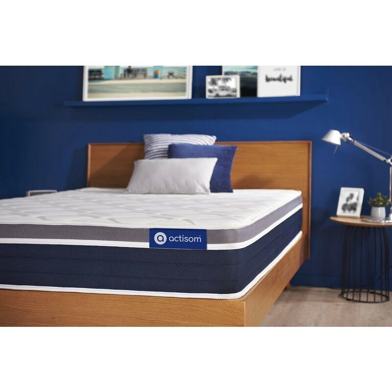 Actisom - Materasso Actiflex confort 80x210cm , Spessore : 26 cm , Molle insacchettate e memory foam , Moderatamente rigido, 7 zone di